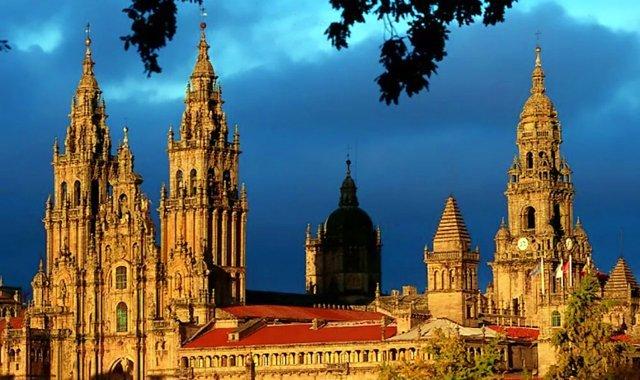 Catedral de Santiago de Compostela, na Espanha - reprodução