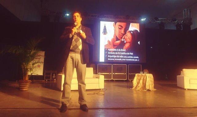 Marcos Spalding, do Santuário Nacional de Aparecida, foi um dos palestrantes do Congresso Internacional de Turismo Religioso - foto Viagens de Fé